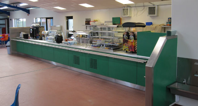 Completed servery/counter